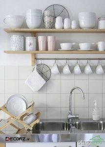 آشنایی با قفسه آشپزخانه چوبی بهترین دیزاین سال 1400