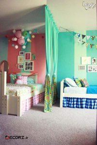 خلاقیت در تزیین اتاق مشترک دختر و پسر