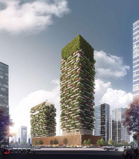رونمایی از اولین برج باغ در آسیا