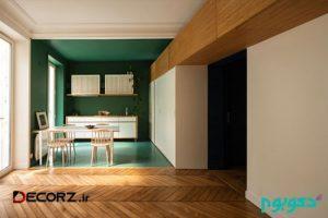 طراحی داخلی آپارتمانی 70 متری