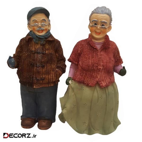 مجسمه رادین مدل پیر زن و پیر مرد DGO-1008R