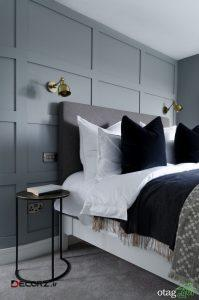 مدل هایی زیبا از طراحی اتاق خواب طوسی با تم مردانه و زنانه