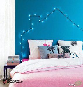 چراغ های رشته ای برای ایجاد یک اتاق رویایی