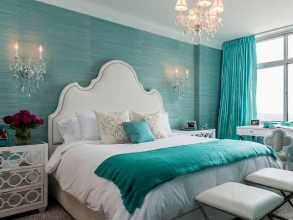 دیوار آبی اتاق