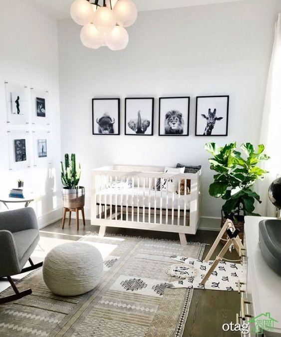 تاثیرات رنگ و وسایل ساده در دکوراسیون اتاق خواب نوزاد پسر