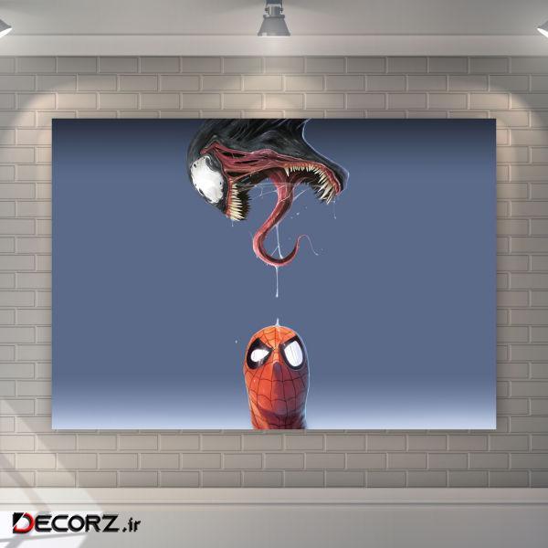 تابلو شاسیطرح ونوم و مرد عنکبوتی کد 3258