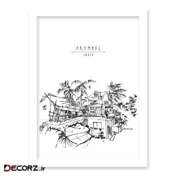 تابلو هیلما گالری کد HAP1821 WHITE