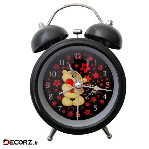 ساعت رومیزی مدل خرس قلبی کد 02