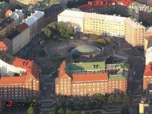 طراحی فضایی و جالب کلیسای هلسینکی