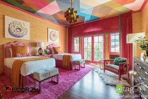 مدل های رنگ سقف اتاق خواب مناسب بزرگسالان و خردسالان