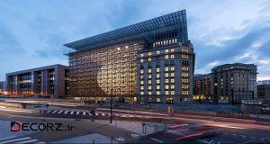 مقر جدید اتحادیه اروپا ؛ جعبه شیشه ای با ساختاری فانوسی
