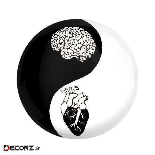 مگنت خندالو طرح قلب و مغز کد 6017