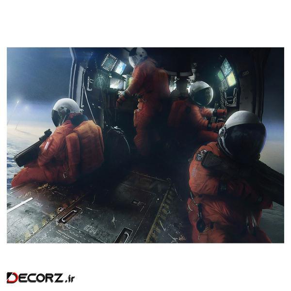 پوستر طرح فضانورد کد 995