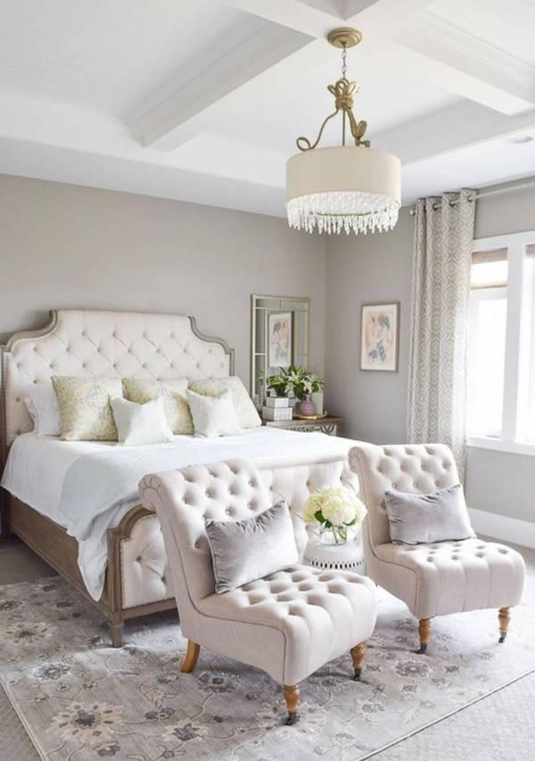 اتاق خواب سفید رنگ