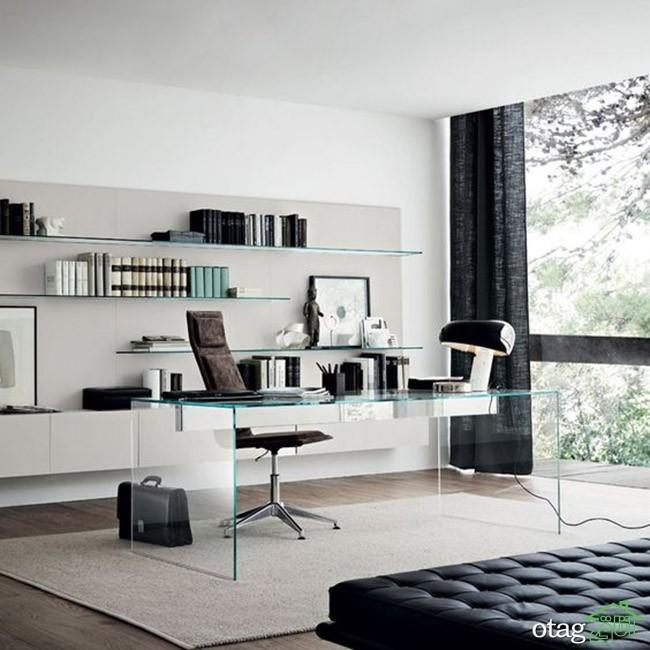مدل های شیک میز اداری شیشه ای در اندازه های بزرگ و کوچک