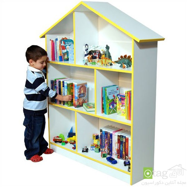 زیباترین مدل های قفسه و کتابخانه کودکان [مدل های جدید اتاق کودک]
