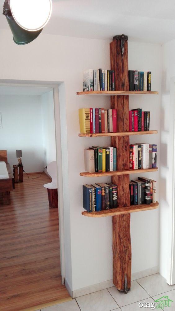 30 مدل کتابخانه درختی چوبی و فلزی مناسب برای دکورهای لوکس