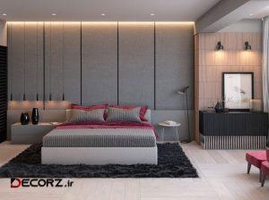 25 اتاق خواب خاکستری با نورپردازی های مناسب