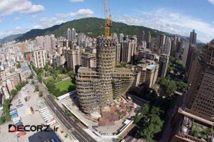 برج باغ آگورا ؛ برج مارپیچی دوگانه DNA وینسنت کالبو در تایپه تایوان