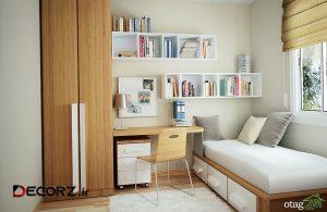 تاثیر گذاری رنگ ها در دکوراسیون اتاق خواب کوچک