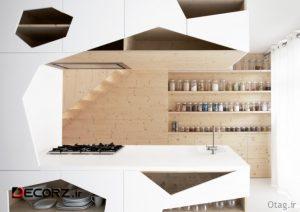 زیباترین مدل های شلف و قفسه آشپزخانه مدرن در سال 1400