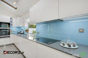 مدل های جالب و خلاقانه دکوراسیون آبی و سفید در آشپزخانه