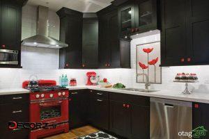 30 مدل کابینت مشکی مات در آشپزخانه های لوکس و امروزی