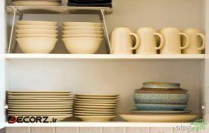 5 قانون کلیدی برای قفسه باز آشپزخانه
