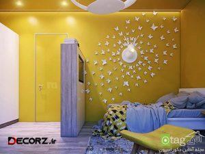 روش های تزیین دیوار اتاق کودک با ایده های نو و زیبا