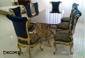 مدل میز ناهارخوری استیل و لوکس سلطنتی به سبک باروک