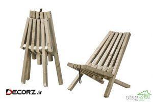 مدل های جدید صندلی تاشو چوبی و فلزی با طراحی بسیار شیک