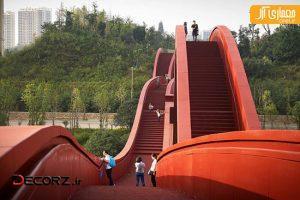 نگاهی به پل عابرپیاده در چین با کانسپت موجدار