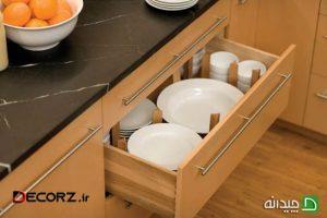 چیدمان ظروف در کابینت آشپزخانه، 25 ایده شگفت انگیز!