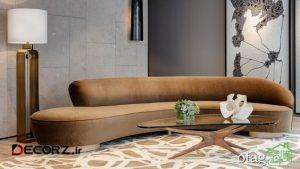 40 مدل جدید مبل راحتی هلالی در طرح های مدرن و کلاسیک