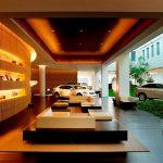 بررسی طراحی داخلی و خارجی دکوراسیون نمایشگاه اتومبیل لکسوس
