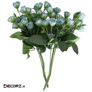 دسته گل مصنوعی مدل رز مینیاتوری بسته 2 عددی