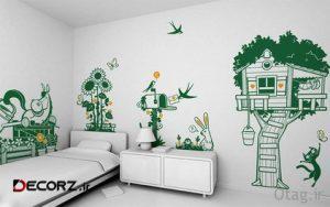 راهنمای خرید استیکر اتاق کودک - برچسب دیواری