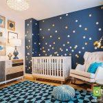 رنگ آمیزی اتاق نوزاد با تم آبی و چیدمانی شیک و هماهنگ