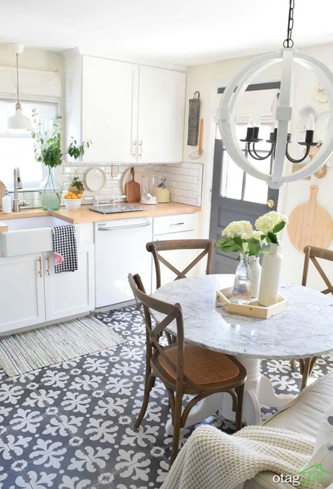 20 نمونه سرامیک کف آشپزخانه و ایده های جدید در نوع چینش آنها