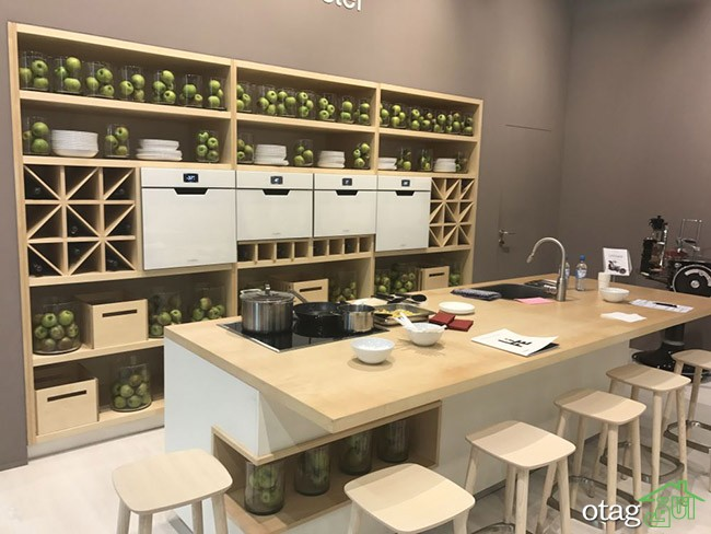 مدل میز ناهارخوری اپن آشپزخانه در طرح های جدید و بسیار زیبا