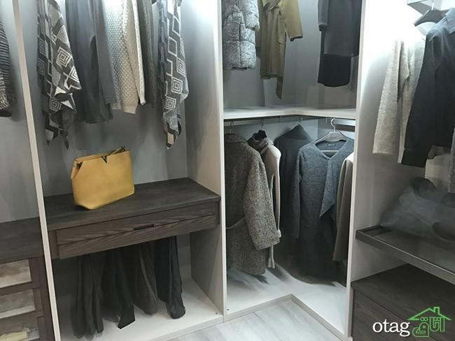 بهترین روش چیدمان کمد دیواری برای به نمایش گذاشتن لباس های شیک