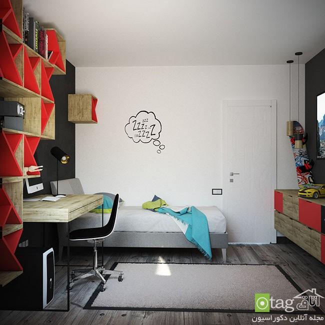 دکوراسیون اتاق کودک و نوجوان با رنگ های سرد و جذاب