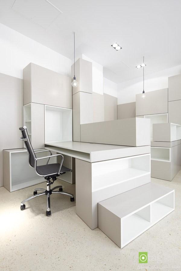 دکوراسیون محیط اداری کوچک با طراحی شیک و کاربردی / عکس