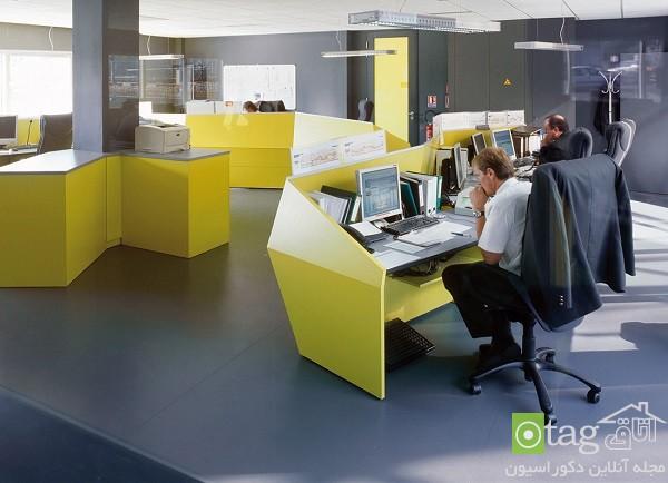 دکوراسیون داخلی محیط اداری با چیدمانی مدرن و کاربردی