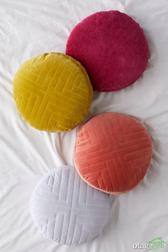 30 مدل کوسن گرد در انواع رنگ ها و بافت ها مناسب منازل امروزی