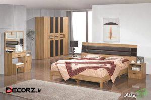 مدل سرویس خواب ام دی اف مناسب اتاق های دونفره مدرن