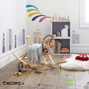 چیدمان دکوراسیون اتاق کودک با استفاده از اسباب بازی های زیبا